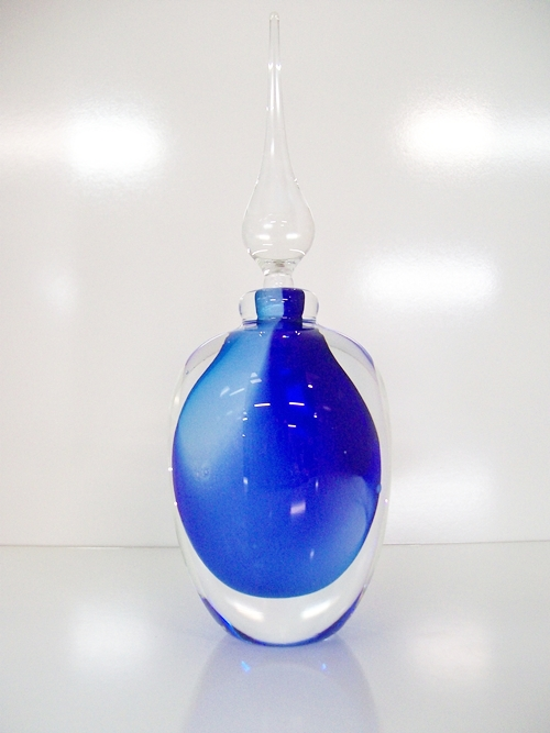 Round Perfume Bottles (Blue & Pale Blue)
